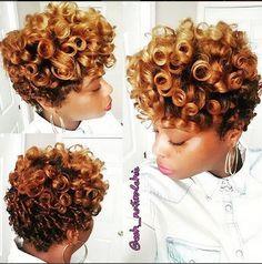 The Best Golden Curls On Short Natural Hair IG:@esh_naturalchic #naturalhairmag