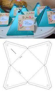 Discover thousands of images about Descarg gratis el molde para hacer esta cajita en mi sitio web Diy Gift Box, Diy Box, Paper Crafts Origami, Diy Paper, Homemade Gifts, Diy Gifts, Wrap Gifts, Gift Wrapping Techniques, Paper Box Template