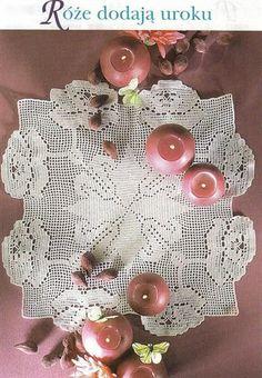 Filethäkeln Tischdecke - crochet tablecloth