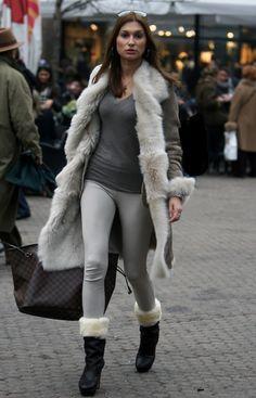shearling fur coat