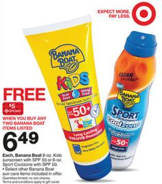 Target – Banana Boat Sunscreen as low as $0.92 each!