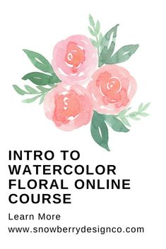Ever wanted to learn how to paint watercolor flowers and you just have no idea where to start?  What supplies do I need?  How do I mix colors?  What techniques do I need to know?  This course is perfect for the beginner who wants to know how to paint watercolor roses.  If you practice and follow along, by the end of this course you will feel confident enough to paint watercolor roses and be ready to move on to trickier flowers.  #watercolor #learntopaint