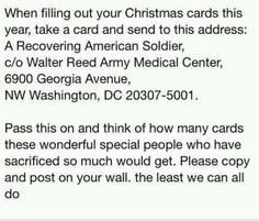 Holiday idea... And to restore a soldier's faith in humanity.