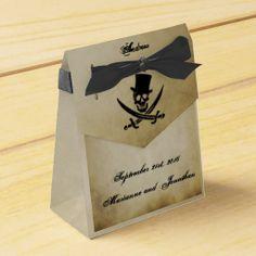 Pirate Wedding Favor Tent Box