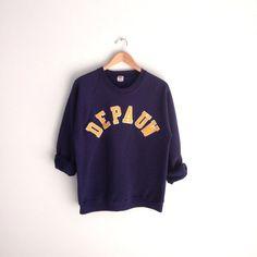 80s Vintage Depauw University Raglan Sweatshirt  by louiseandco, $35.00