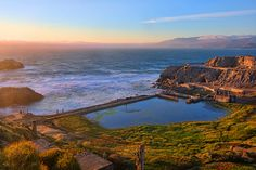 The Sutro Bath Ruins in San Francisco are the perfect spot to catch a sunset on a fog-less day. >> Wow! Great shot. :D