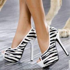 Open toe zebra print- yes please!!!