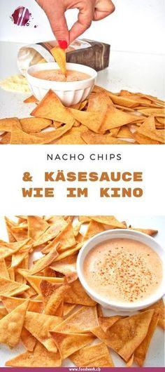 Im Kino gehören die Nachos einfach dazu. Mit dem Rezept für die knackigen Nachos und die cremige Käsesauce, habt ihr das Kinofeeling nun auch zu Hause. Rückzuck sind die Nachos im Ofen und die Sauce ist auch fix gemacht.