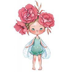 Sticker Petite fée Bertille pour la décoration d'une chambre de fille