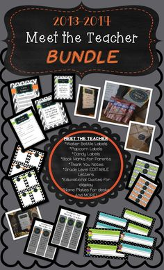 Knock it out of the park! This isn't your ordinary Meet the Teacher Bundle! Creativity meets practicality! The contents of this file have been downloaded over 5,000 times in another bundle file of mine.  Get it now!