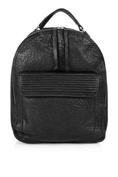 Leather Zip-Around Backpack - Topshop