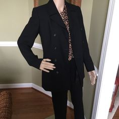 """Jet black suit Dress pants are Martin fit have some fuzzy on them but good condition inseam 33"""" jacket excellent condition very nice gorgeous Banana Republic Other"""