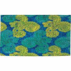 Thumbprintz Funky Florals Paisley Royal Blue Rug, 22.5 inch x 37 inch