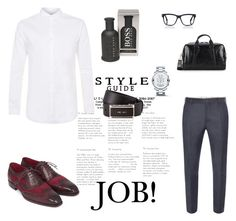 """""""look work"""" by fuckgalaxy-edge on Polyvore featuring Alexander McQueen, Topman, Movado, Jack Spade, BOSS Hugo Boss, Prada, Tom Ford, men's fashion and menswear"""