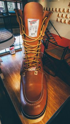 The World's Largest Boot can be found at Red Wing Shoes in Red Wing, MN Explore Minnesota #OnlyInMN