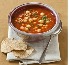 The Real Food Difference, Lunch Ideas & Nutrition for Cancer Patients    Vegetable and Chick Pea Soup