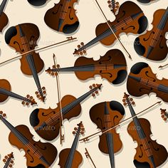 Bow and Violin Pattern