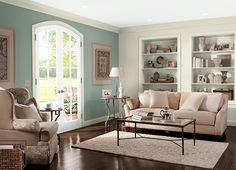 This is the project I created on Behr.com. I used these colors: SOUTHERN BREEZE(450E-3),PALE LICHEN(PPL-79),WETHERSFIELD MOSS(460F-4),OFF WHITE(1873),