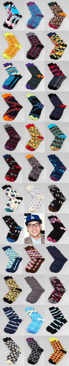 Rob Kardashian Socks. My favorite. They are roomier than most socks in the toes and slightly longer. Love them.