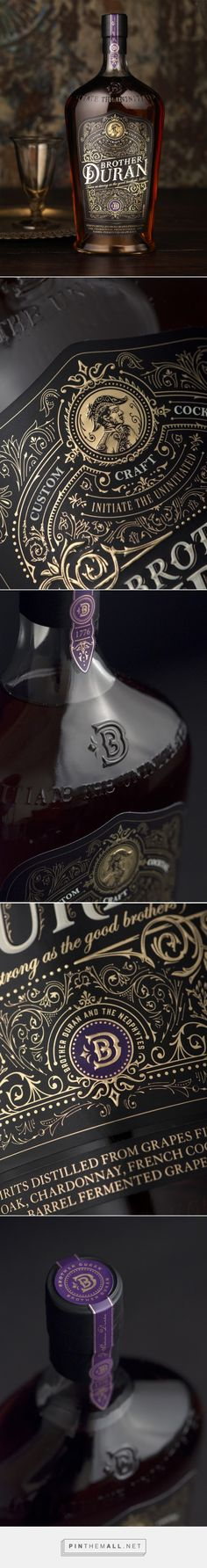 Brother Duran spirits packaging designed by CF NAPA Brand Design​ - http://www.packagingoftheworld.com/2015/11/brother-duran.html