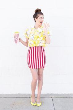 DIY Popcorn Costume for Halloween!