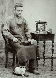 Vintage & Today: Professions from 1840 to Zawody od 1840 do 1967 roku. Antique Photos, Vintage Pictures, Old Pictures, Old Photos, Old Portraits, Vintage Photographs, Vintage Cat, Inktober, Victorian Era