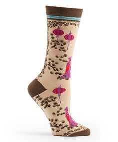 Love this Khaki East Meets West Socks on #zulily! #zulilyfinds