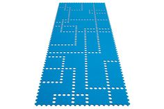 Rug Stamp in colour petrol 34 - Runner in felted wool