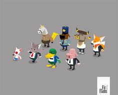 low poly game | Media RSS Feed Report media CATDAMMIT! citizens in-game low poly ...