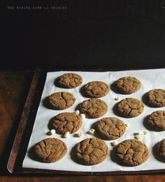 Triple Ginger Cookies via Une Gamine dans la Cuisine #recipe