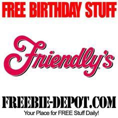 ►► FREE BIRTHDAY STUFF - Friendly's Ice Cream - FREE BDay Sundae - Birthday Freebie Ice Cream ►► #BDay ►► Freebie-Depot