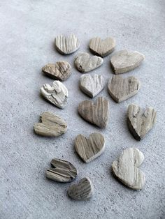Lot of 15 Natural Flat Textured Driftwood Heart by TinkersAttic, $24.00