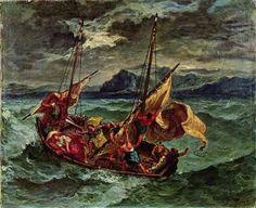 Cristo en el mar de Galilea, 1854 - Eugène Delacroix