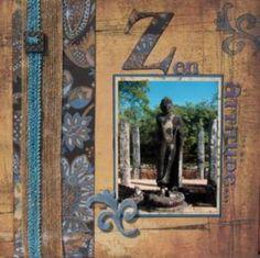 Zen attitude - Album de pages de scrap. - Galerie Scrapbooking