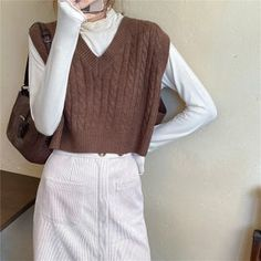 Vest Outfits, Mode Outfits, Retro Outfits, Fall Outfits, Vintage Outfits, Casual Outfits, Fashion Outfits, Sweater Vest Outfit, Sweater Vests