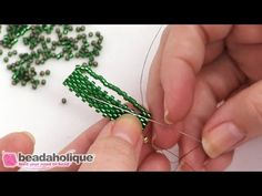 http://www.beadaholique.com - In this video you will learn an alternative way to do peyote bead weaving that can be faster than a more traditional form becau...