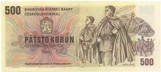 People's Republic Of Czechoslovakia 500 Banknote Retro, European Countries, Czech Republic, Banknote, Bench Seat, Coining, Nostalgia, Soldiers, Rustic