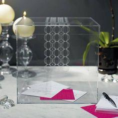 """Circle of Love"" Acrylic Wedding Wishing Well - Wedding Card Box - Wedding Card Holder - Wedding Card Box Ideas Wedding Gift Card Box, Gift Card Boxes, Wedding Keepsakes, Wedding Wishes, Wedding Cards, Diy Wedding, Wedding Reception, Wedding Gifts, Wedding Ideas"