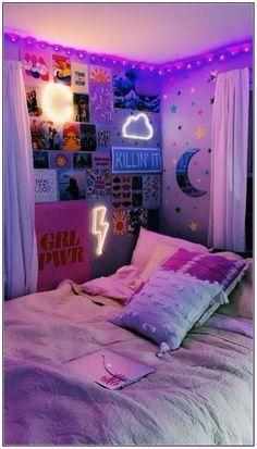 Cute Room Ideas, Cute Room Decor, Diy Room Ideas, Bedroom Ideas For Small Rooms For Teens, Bedroom Decor For Teen Girls Dream Rooms, Cool Rooms For Teenagers, Picture Room Decor, Bedroom Ideas For Teen Girls Tumblr, Pink Dorm Rooms