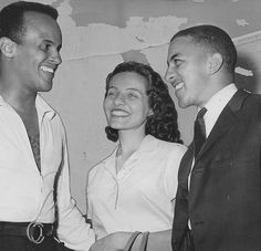 Movement supporter, Harry Belafonte (L) and many SNCC student leaders believed the focus should be on voter registration rather than direct action such as sit-ins and Freedom Rides. They argue that poor, rural Blacks have no money for lunch counters or other public facilities and what they need most is political power that begins with winning the right to vote. SNCC decided to do both direct action and voter registration. Diane Nash (c) is chosen to head direct action efforts. (Getty image)