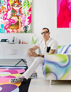 Financial Times - Karim Rashid talks personal style: Part Two Karim The industrial designer concludes his list of likes with David Bowie, Miami's South Beach and DJing Karim Rashid, Funky Furniture, Design Furniture, Plywood Furniture, Laura Ashley, Christian Liaigre, Beauty Room Decor, Icon Design, Design Design