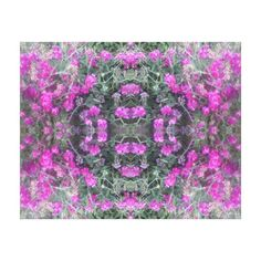 Pink Sweet Pea Fractal Summer 2016 Canvas - larger Gallery Wrapped Canvas