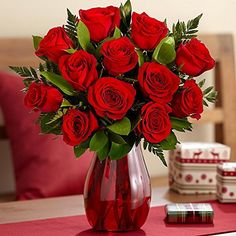 12 Long Stemmed Red Roses with Greene... for only $59.98