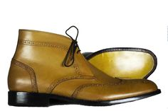 High Leather Boots, Tan Boots, Leather Shoes, Chelsea Shoes, Wingtip Shoes, High Shoes, How To Make Shoes, Brown Shoe, Formal Shoes