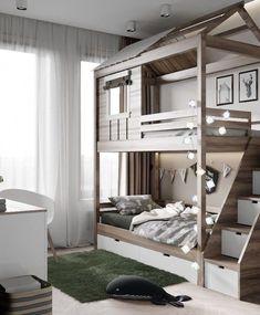 40 Affordable Kids Bedroom Design Ideas That Suitable For Kids Bedroom Storage Ideas For Clothes, Bedroom Storage For Small Rooms, Cool Kids Bedrooms, Bedroom Boys, Master Bedroom, Master Suite, Master Master, Bedroom Country, Teen Bedrooms