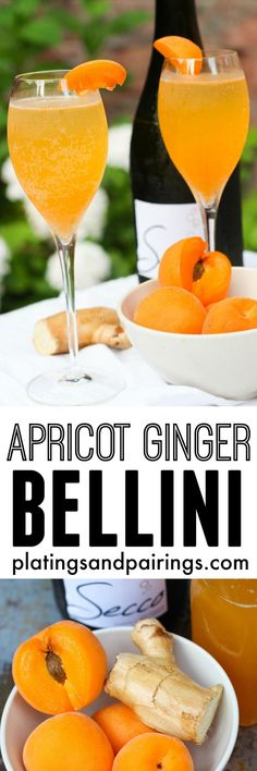 Apricot Ginger Bellinis -
