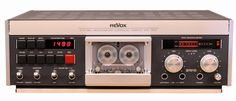 """Revox B710 Mk II stereo cassette recorder, without doubt one of the finest cassette decks ever made. Dual capstans, three heads, four motors, Dolby B C noise reduction, Metal Particle Tape capability, and impeccable, rugged Swiss engineering make it a true """"superdeck."""" Popular with studios and audiophiles alike, this is the pinnacle achievement of the cassette medium. It's the best cassette deck in my collection."""