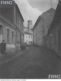 Gorlice, ul. Garbarska, okres międzywojenny; źródło: Narodowe Archiwum Cyfrowe