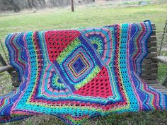 If you have a hard time sticking with the same stitch over and over again (as I call it Crochet ADD) then this is the blanket for you! I have the most difficult time committing myself to a long project, especially an afghan if the stitches and colors aren't constantly changing. I'm breaking all the rules! There are very few stitch counts required and even a little cheating here and there, if you have to skip a couple stitches here or there, no problem! This blanket is perfectly imperfect…