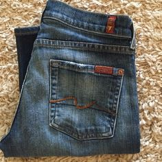 "7FAMK jeans 7 for all mankind, medium blue wash, bootcut. 29 1/2"" inseam. Great condition! 7 for all Mankind Jeans Boot Cut"